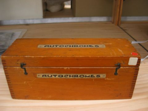 Original autochrome wooden box