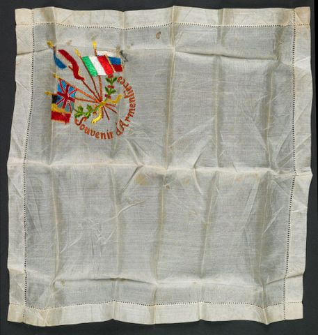 Souvenir d' Armentiere, 1917, France, maker unknown. Gift of the Chatfield family, 1936. Te Papa (CA000316/007/0001/0001)