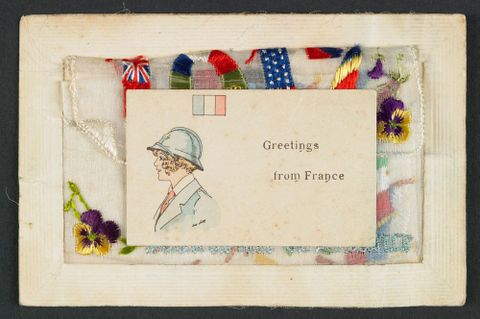 CA000316/001/0014/0002; Sewn Souvenir from France - Card; 1917; Unknown (image/jpeg)