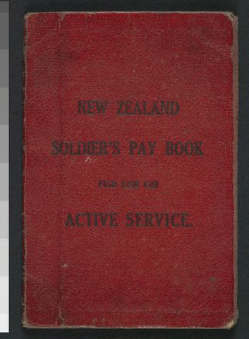 New Zealand Soldier's Pay Book