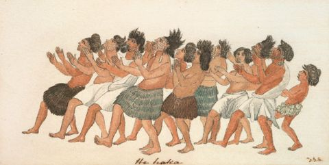 1991-0003-10; He haka; circa 1850; Grant, T. J. ; without frame; colour corrected (image/jpeg)