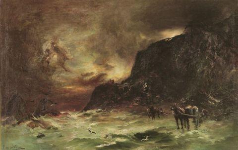 Te Papa curator Rebecca Rice on Petrus van der Velden's Storm at Wellington Heads