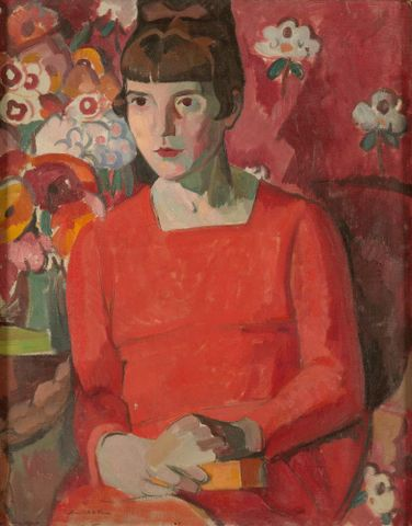 1940-0009-1; Portrait of Katherine Mansfield; 1918; Rice, Anne Estelle ; without frame; colour corrected (image/jpeg)