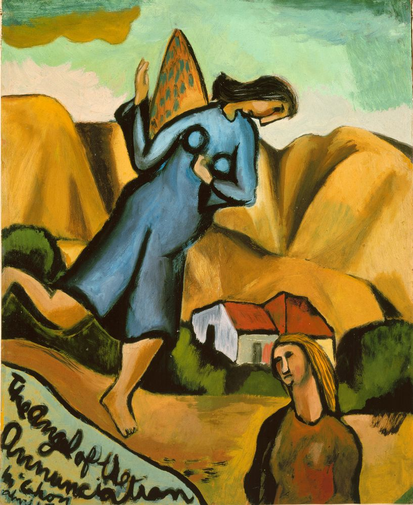 1980-0008-3; The Angel of the Annunciation; 1947; McCahon, Colin ; without frame; colour corrected