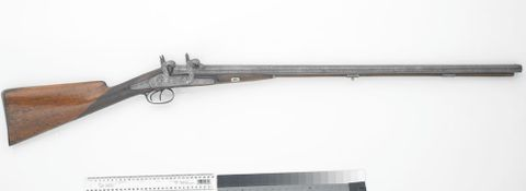DM000317; Four hammer percussion shotgun; circa 1850; Dewalle Brothers ; view 03 (image/tiff)