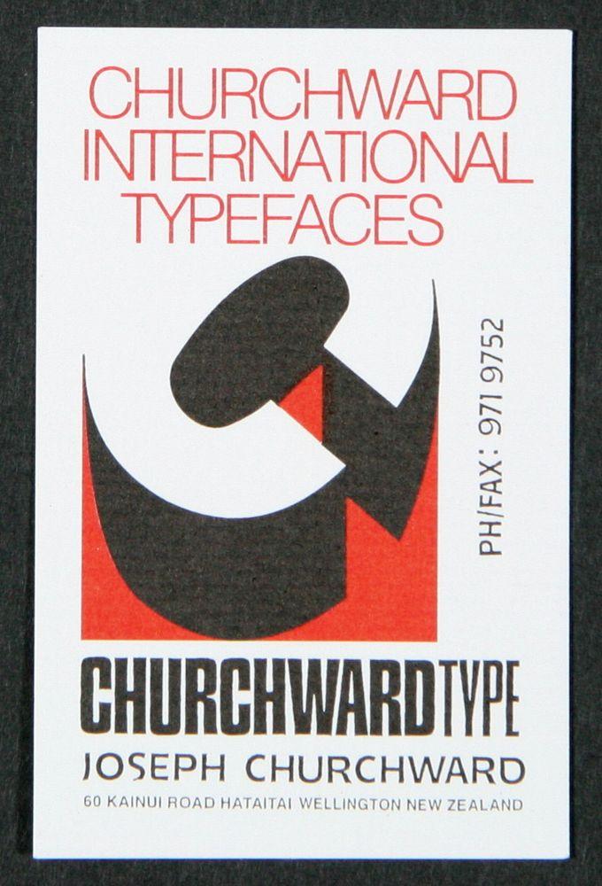 Churchward international typefaces business card collections fe0121552a churchward international typefaces business card samoan churchward reheart Choice Image