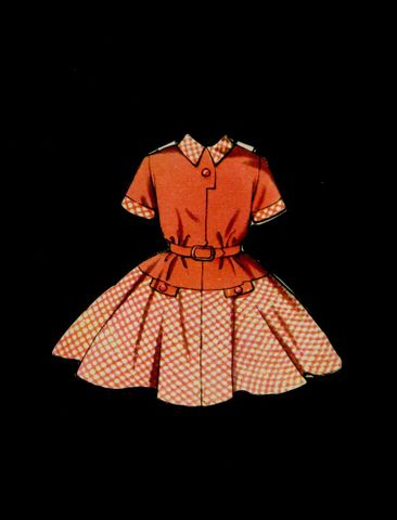 GH011540/7; Dress, paper doll's; C 1958; Unknown (image/jpeg)