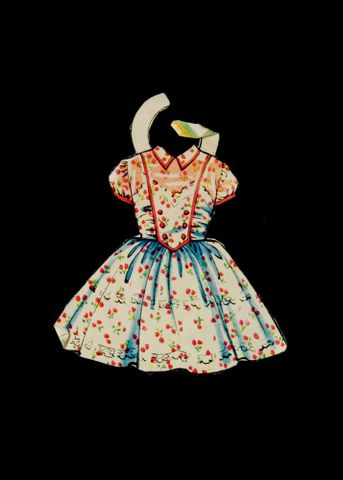 GH011540/8; Dress, paper doll's; C 1958; Unknown (image/jpeg)