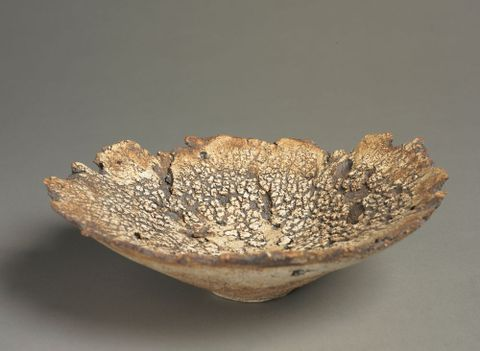 Bowl.  From the group: The earth cooling. From the series: The magma flows, the magma cools on its way to the ocean