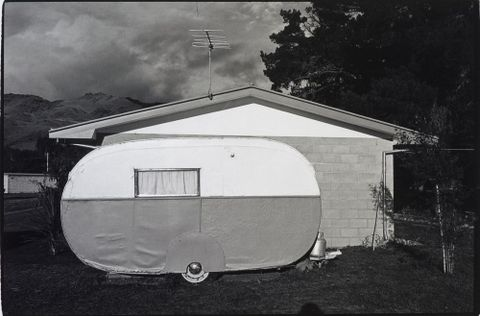 Caravan, Cromwell, 1977, 1977, Cromwell, by Laurence Aberhart. Purchased 2008. Te Papa (O.031696)