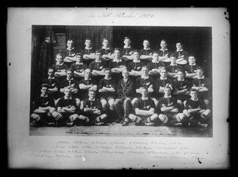 "B.029354; The 1924 All Blacks (The ""Invincibles"" touring team); circa 1924; Unknown (image/tiff)"