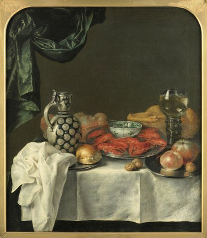 1943-0007-1; Still life; 1667; van Kessel, Jan ; without frame; colour corrected; colour corrected (image/tiff)