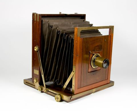 Folding camera, Thomas Girvan, 1870s