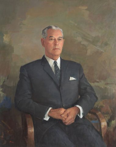 The Right Hon. Keith J. Holyoake C.H. circa 1965, New Zealand. William Dargie (1912-2003). Gift of Sir Henry Kelliher, 1967. © Te Papa.