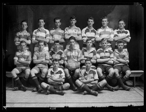 C.003320; New Plymouth Technical College Football Team; 1924; Crown Studios (image/tiff)