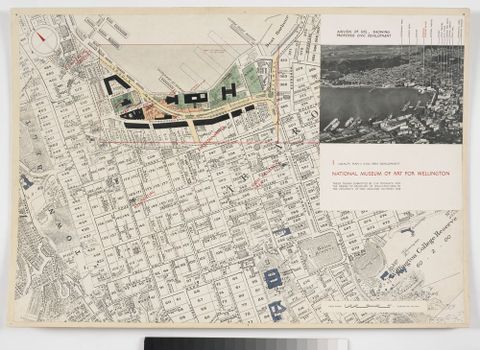 National Museum of Art for Wellington: Locality plan and civic area development