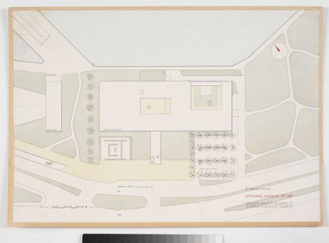 Proposed National Museum of Art: Developed Site Plan