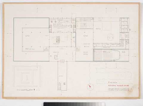 CA000603/001/0004; Proposed National Museum of Art: First Floor Plan; October 1949; Toomath, Stanley (image/tiff)