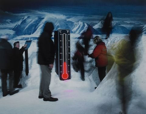 <EM>Storm, Antarctic Centre, Christchurch, 2002</EM> by Anne Noble