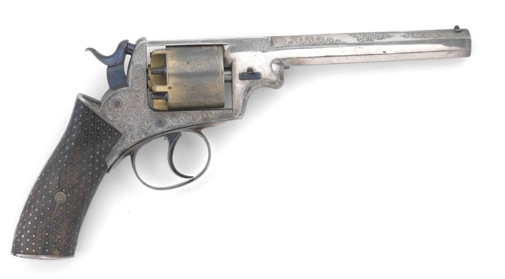 Percussion revolver, Webley  | Collections Online - Museum