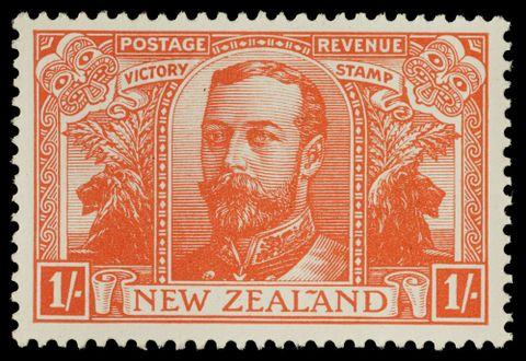 PH000081; Issued one shilling   'Victory' stamp.; 1920; De La Rue & Co. (image/tiff)