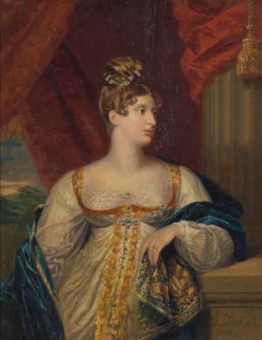 Portrait of Princess Charlotte of Wales and Saxe Coburg