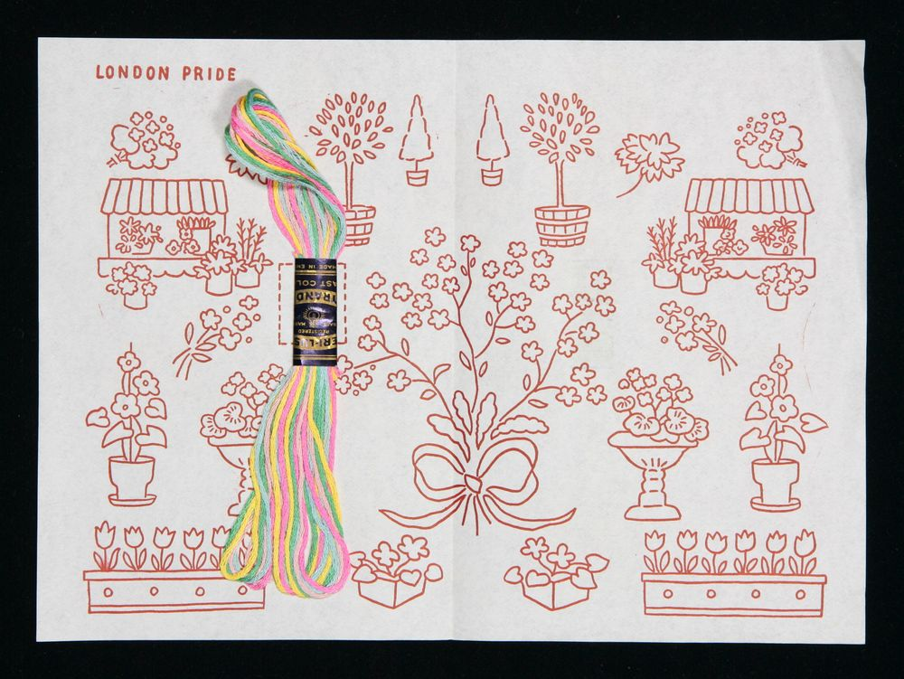 Embroidery pattern and thread | Collections Online - Museum of New