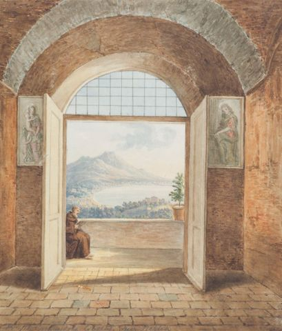 1957-0009-33; From the Caminidole Convent, near Naples; 1820s; Brockedon, William ; without frame (image/jpeg)