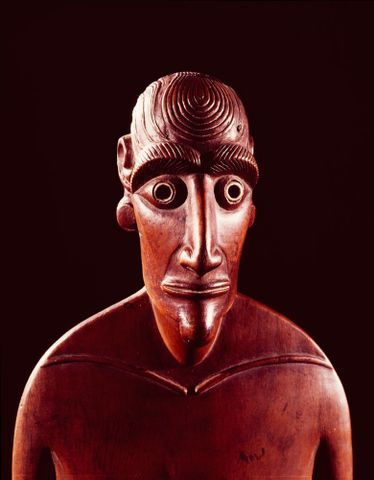 Female ancestor figure from Easter Island, Canterbury Museum