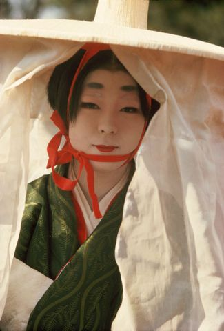 Heian girl in Festival of the Ages, Kyoto