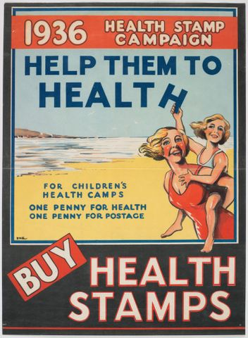 Poster, '1936 Health Stamp Campaign'