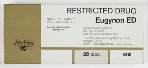 TMP009659; Pills, contraceptive; 1970s; Schering AG ; view Verso (image/tiff)