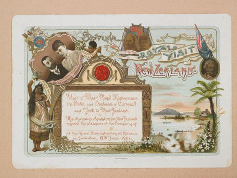 1901 Royal Tour invitation