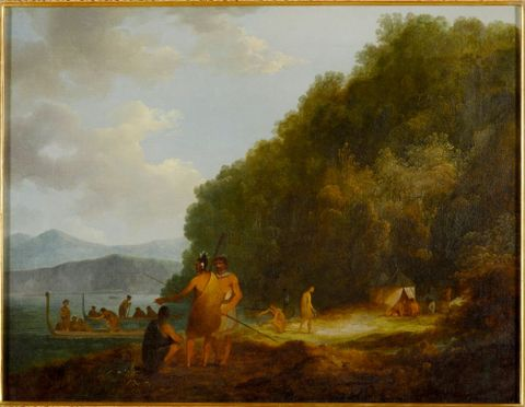 Captain Cook's arrival at Ship Cove, Queen Charlotte Sound