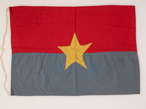GH015795; Flag; 1967; Lowe, Jeremy ; view Verso (image/tiff)