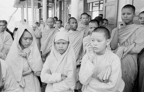 E.005633/37; Buddhist nuns and monks arrested following anti-government protests, South Vietnam; 1963; Brake, Brian (image/tiff)