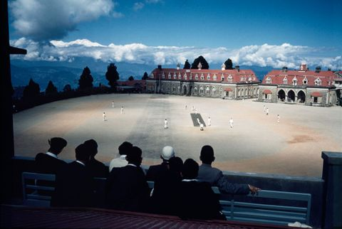 CT.037458; Cricket match at a boys' boarding school, Darjeeling, India. From a series on the British in India for the Sunday Times; 1962; Brake, Brian (image/tiff)
