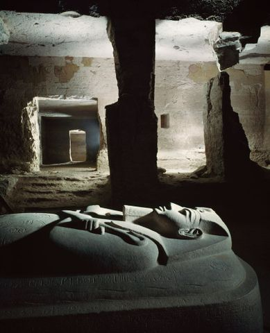 Tomb of King Merneptah, Thebes, Egypt. From a series on ancient Egypt for 'Life'