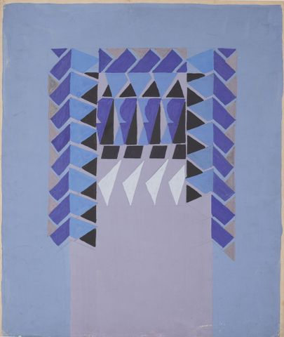 1998-0006-5; Untitled (Textile design no I); circa 1925; Hodgkins, Frances ; without frame (image/jpeg)