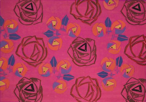 1998-0006-9; Untitled (Textile design no V); circa 1925; Hodgkins, Frances ; without frame (image/jpeg)
