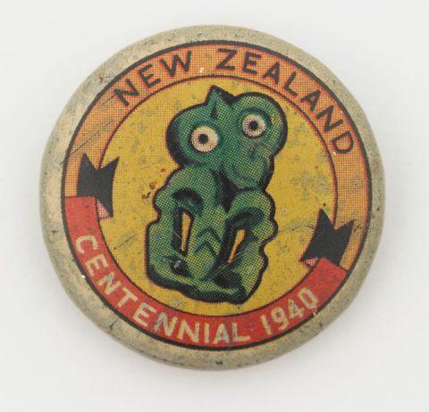 Centennial Exhibition souvenir badge