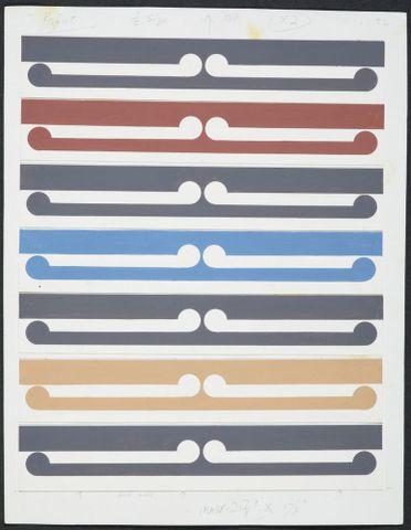 Half-size colour study for Kura