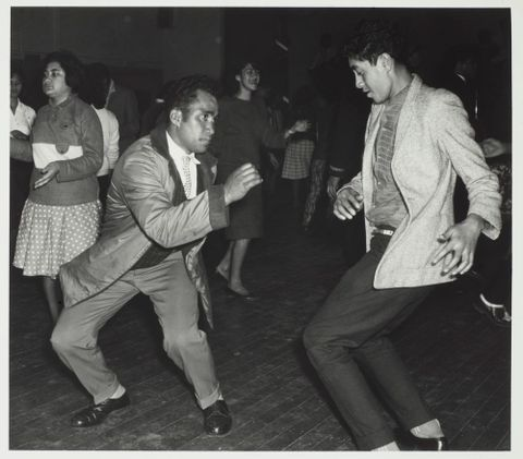 O.031172; Twisting the night away, Maori Community Centre, Auckland; circa 1962; Westra, Ans (image/tiff)