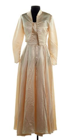 PC001735; Wedding Dress and Jacket; 1954 (image/tiff)