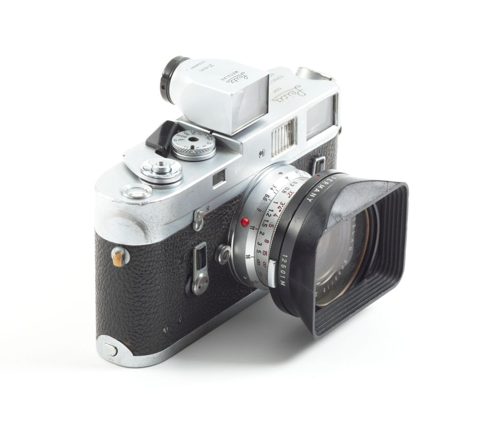 Leica M4 camera, with 21mm lens, owned by Brian Brake