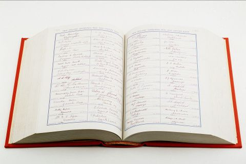 Visitors' Book, 1940 - GH004312 (image/tiff)