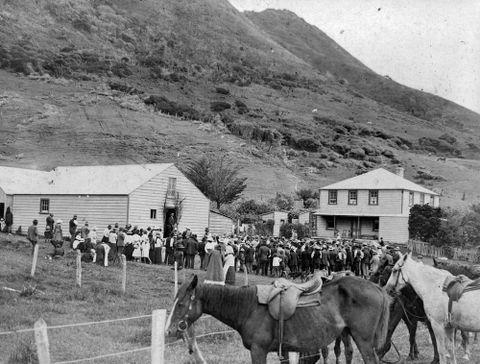 Native Land Court Day, Ahipara, Far North, New Zealand.