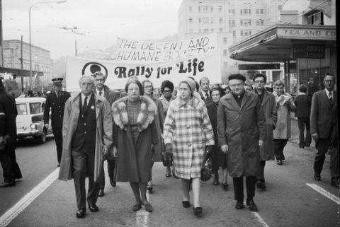 Anti-abortion march, Wellington, New Zealand