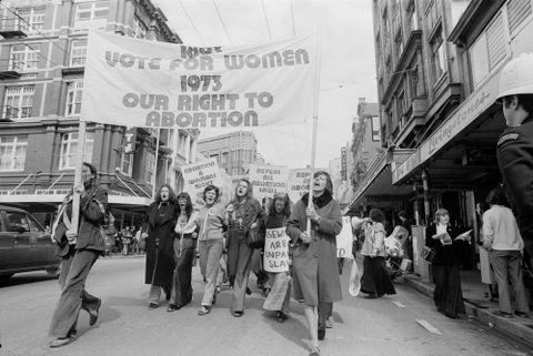 Pro-choice march, Wellington, New Zealand