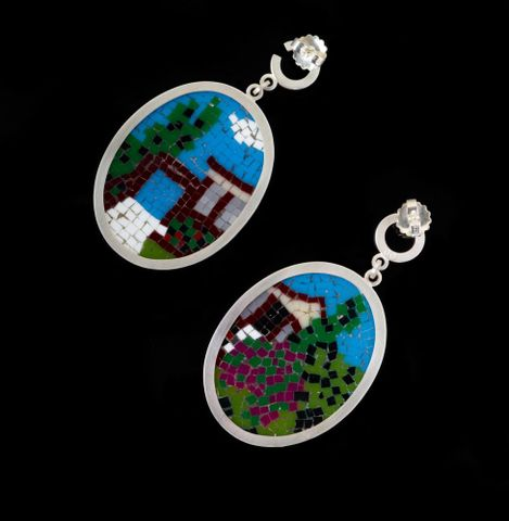 2010-0007-2/A-B to B-B; Ancestral Home & Garage (Pakuranga) [pair of earrings]; 2009; Cook, Octavia ; view 2 (image/tiff)